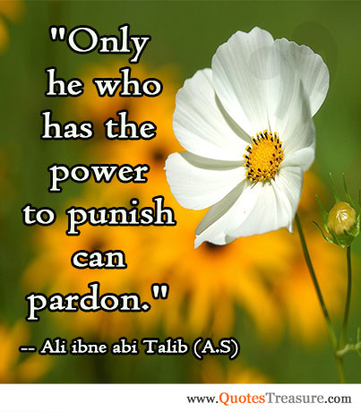 Only he who has the power to punish can pardon.